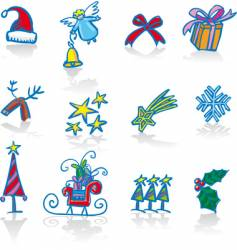 Christmas utilities vector