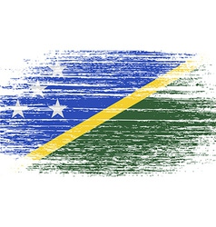Flag of solomon islands with old texture vector