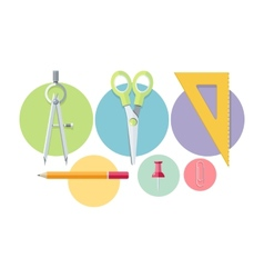 Icons of office tools vector