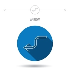 Arrow back icon previous sign vector