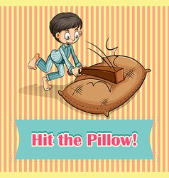 Idiom hit the pillow vector