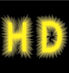 Yellow smoke volume label on a black background vector
