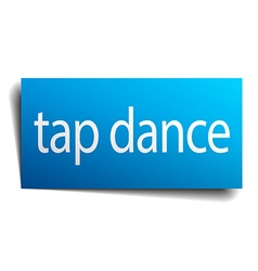 Tap dance blue paper sign isolated on white vector