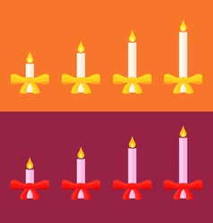 Advent candles vector
