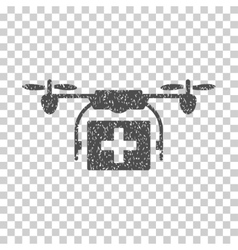Ambulance drone grainy texture icon vector