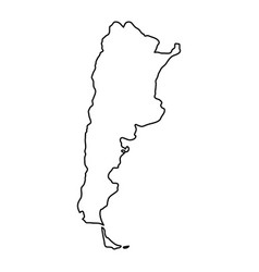 argentina map of black contour curves of vector image