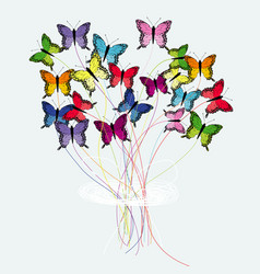 bouquet of butterflies vector image