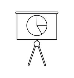 Business presentation chart finance board outline vector