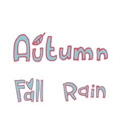 cartoon flat autumn set icon stickers vector image vector image