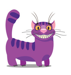 Cheshire cat to the fairy tale alices adventures vector