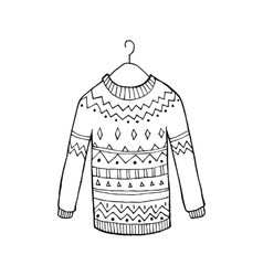 Christmas sweater vector image