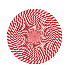 Circles made of candy canes vector