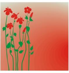 creative design hibiscus flowers background vector image vector image