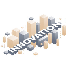 creative of three dimensional word innovation vector image