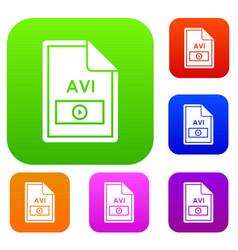 File avi set collection vector
