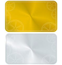 Golden frame card vector