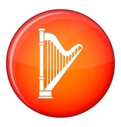 Harp icon flat style vector