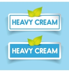 Heavy cream label vector image