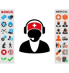 Hospital receptionist icon vector