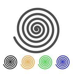 Hypnosis spiral flat icon vector