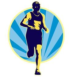 Marathon runner running jogging vector