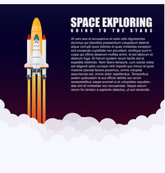 modern galaxy space rocket spaceship launch vector image vector image