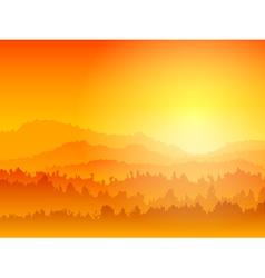 Mountain sunset vector
