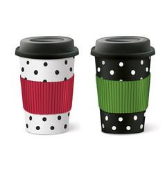 Paper cups vector