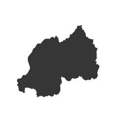 rwanda map outline vector image vector image