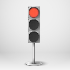 Traffic light Red diod traffic light Templ vector image