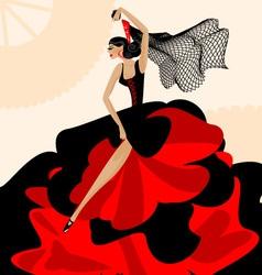 woman flamenco vector image vector image