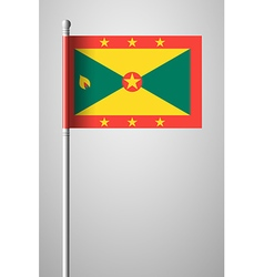 Flag of grenada national flag on flagpole vector