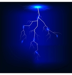 Lightning of dark blue background vector