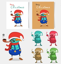 Snowman cartoon character vector