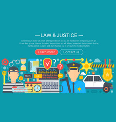 law and justice design concept with policeman and vector image