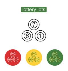 Lottery balls icon vector