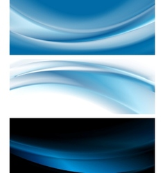 Bright blue banners vector image