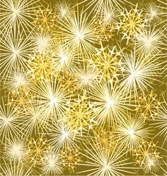 Seamless texture fireworks new year gold backgroun vector
