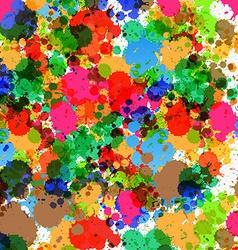 Colorful Splashes - Blots Background vector image