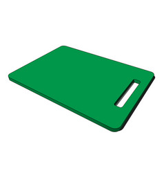 3d image - green plastic kitchen breadboard hole vector
