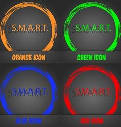 Smart sign icon press button fashionable modern vector