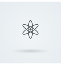 Peaceful atom science and laboratory icon vector