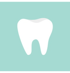 Tooth icon healthy tooth oral dental hygiene vector