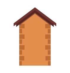 House or real estate silhouettes with brown brick vector