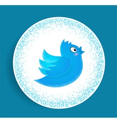Flying twitter vector