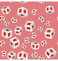 Isometric cubes seamles pattern 659 vector image