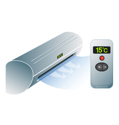 Air conditioning and remote control vector