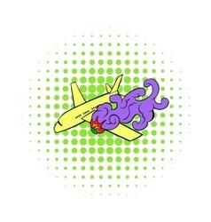 Air crash icon comics style vector