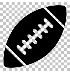 American simple football ball Flat style black vector image vector image