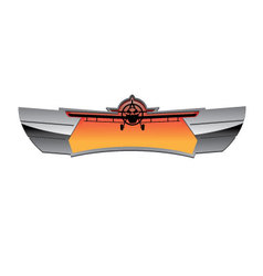 Aviation badge vector